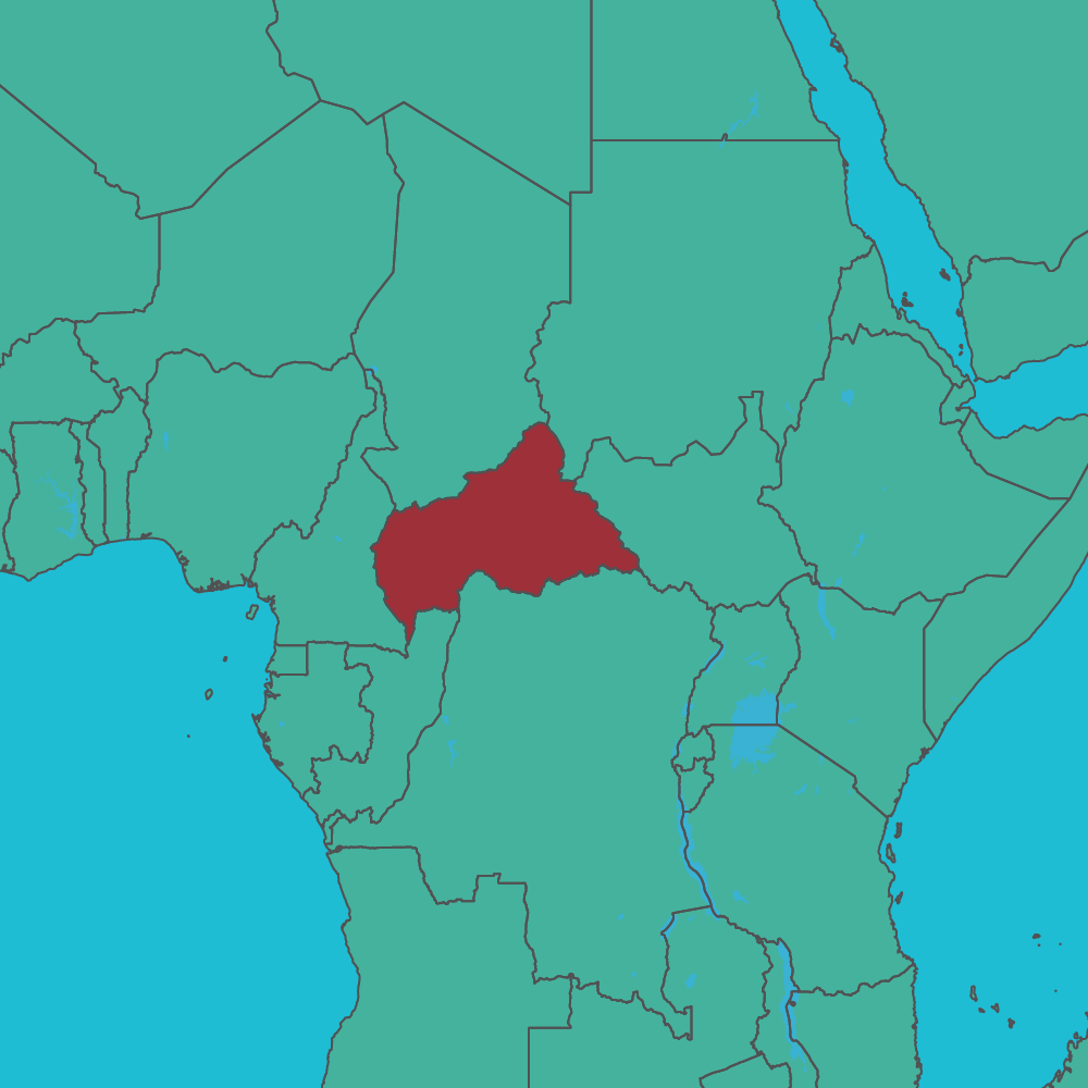 map of Central African Republic in Africa