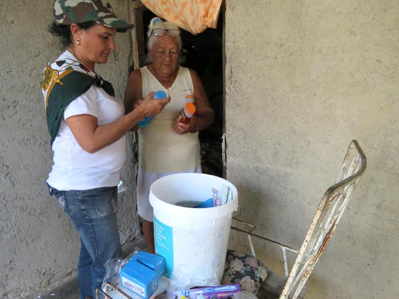 Aid for people affected by Hurricane Irma in Cuba