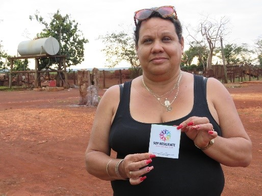 Caridad Gonzalez receives help after hurricane in Cuba