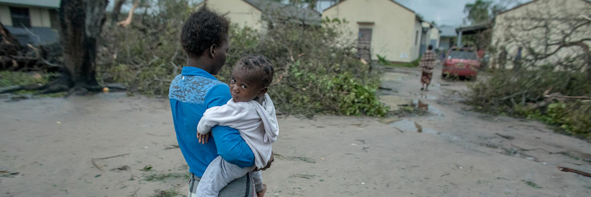Mother and child in Mozambique after Cyclone Idai