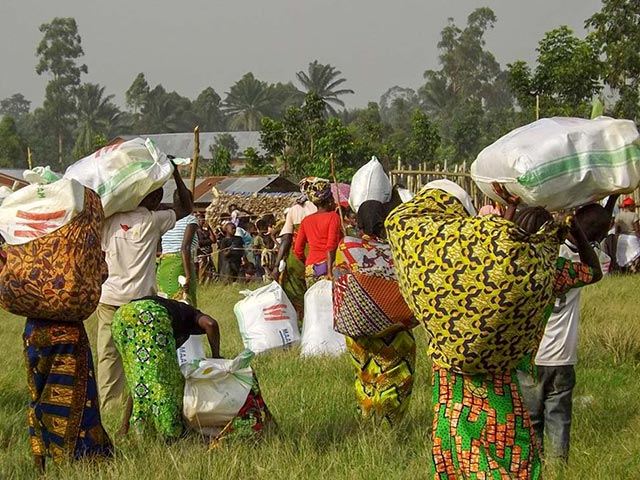 DRC displaced people