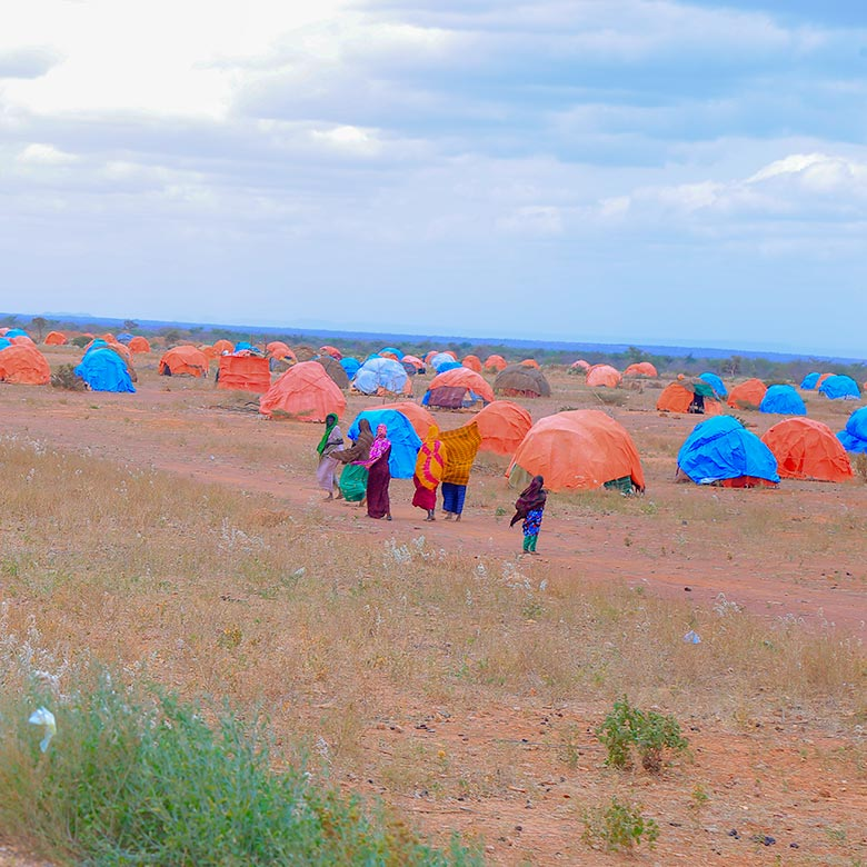 Ethiopia floods survivors' camp 2018