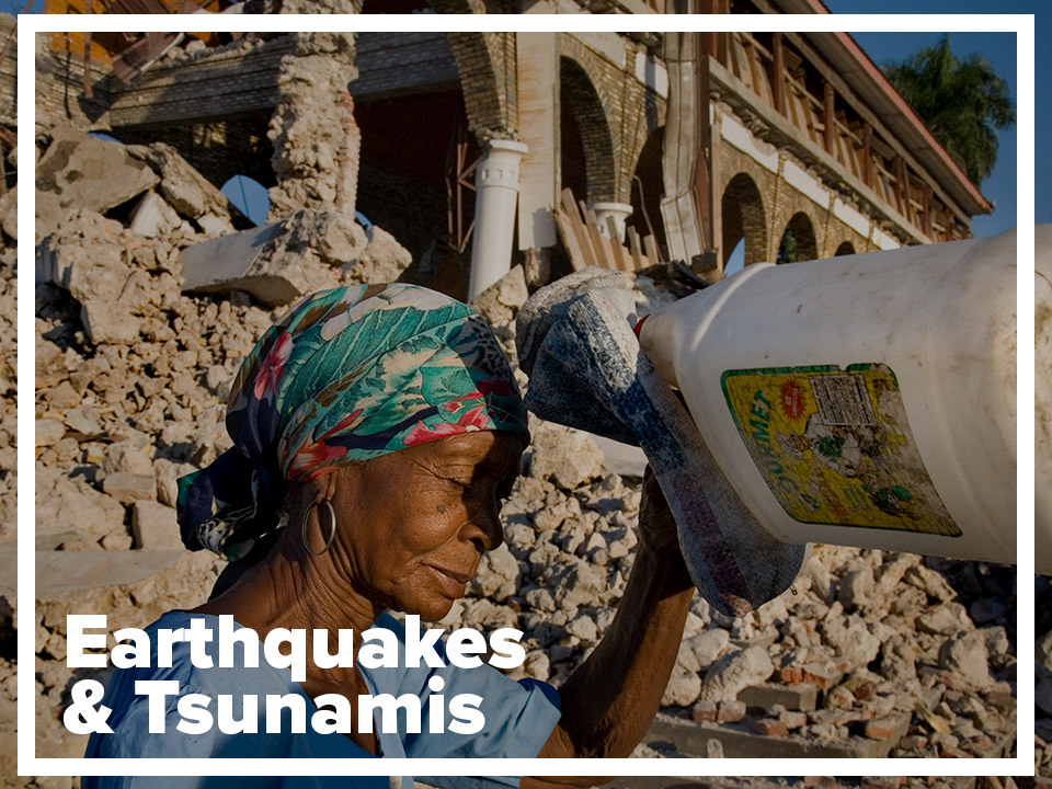 Earthquakes and tsunamis page