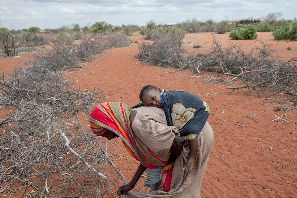 East Africa Drought 2011, grandmother and child