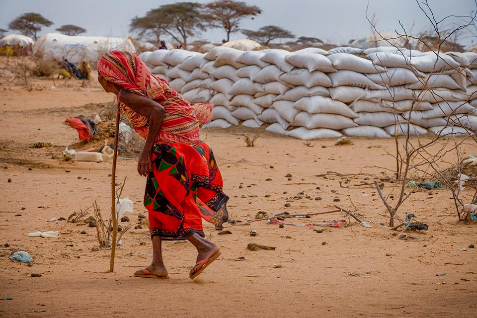 East Africa Drought 2011, woman and walking