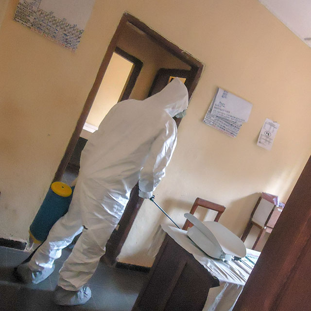 Health worker during Ebola crisis