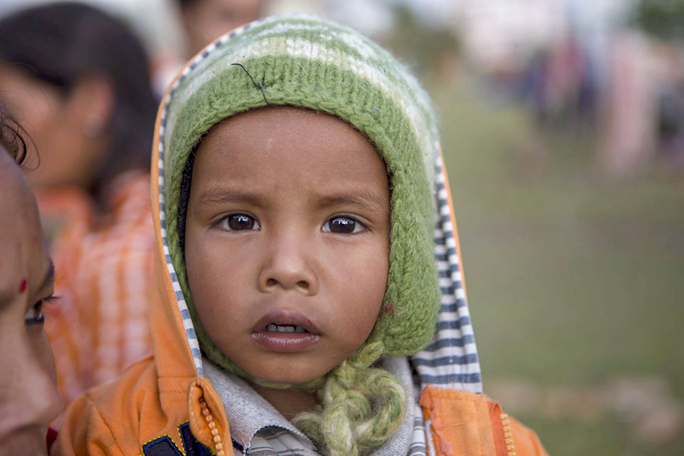 child, Nepal earthquake