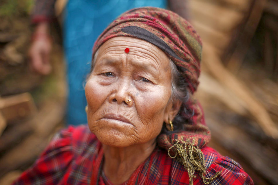 Nepalese woman after Nepal earthquake