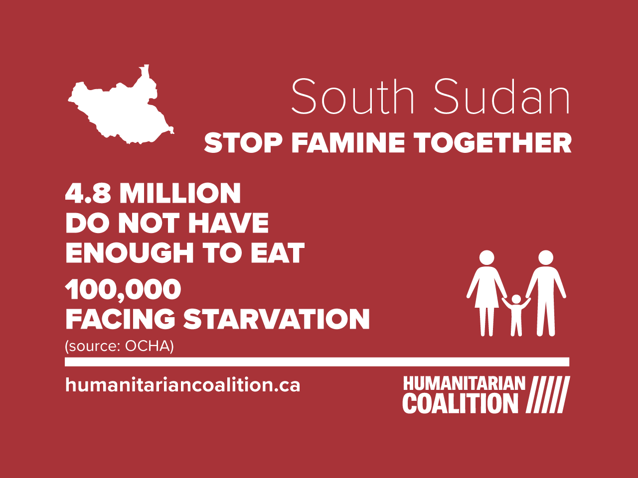 food crisis in South Sudan infographic