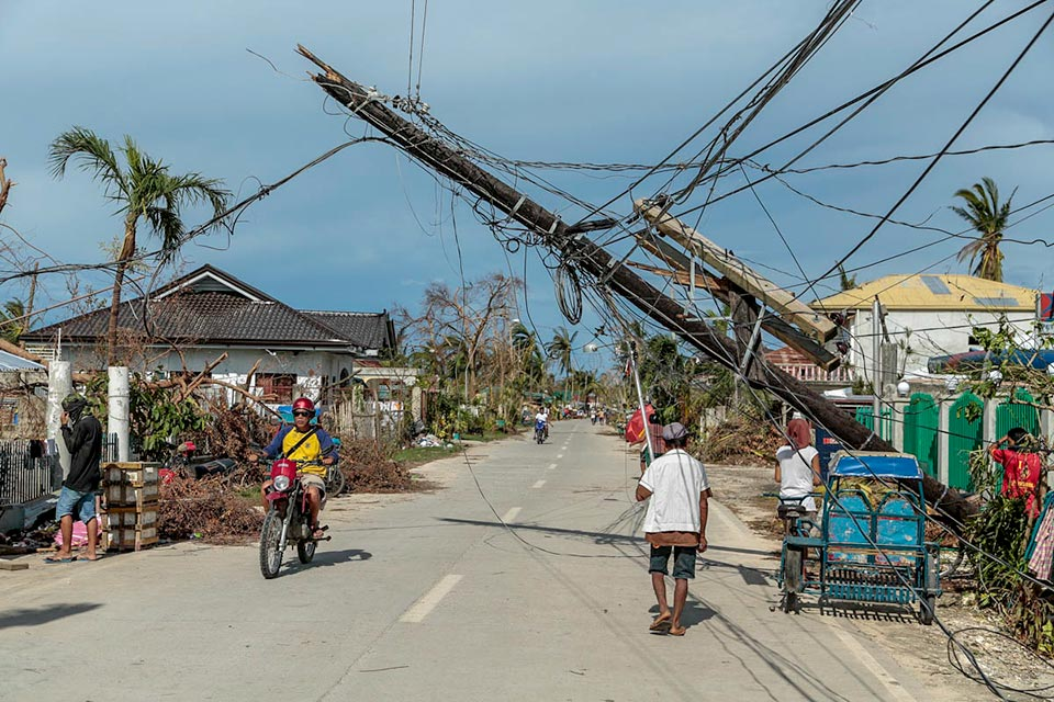 Destruction caused by Typhoon Haiyan, Philippines