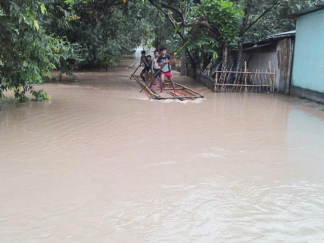 Floods in Assam province India in 2016