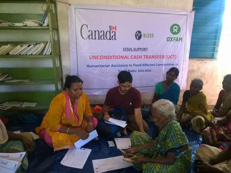 Aid from Canada for people affected by floods in Chennai province