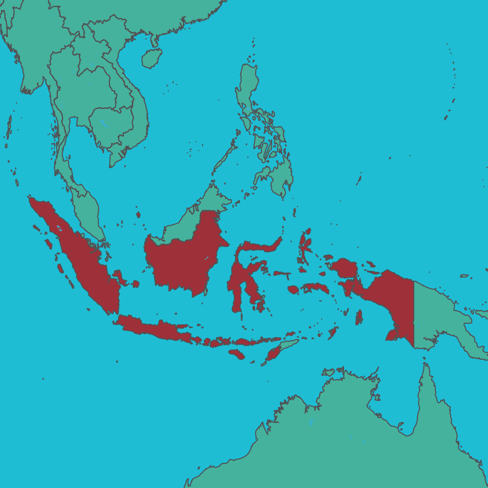 map of Indonesia in Asia