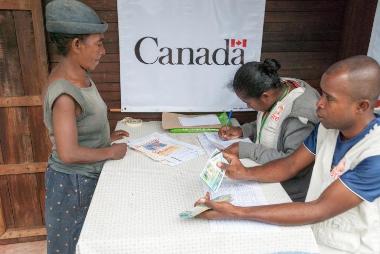 People in affected areas of Madagascar get support from Canada, CARE and the Humanitarian Coalition