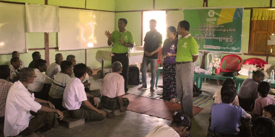 Humanitarian aid in Myanmar