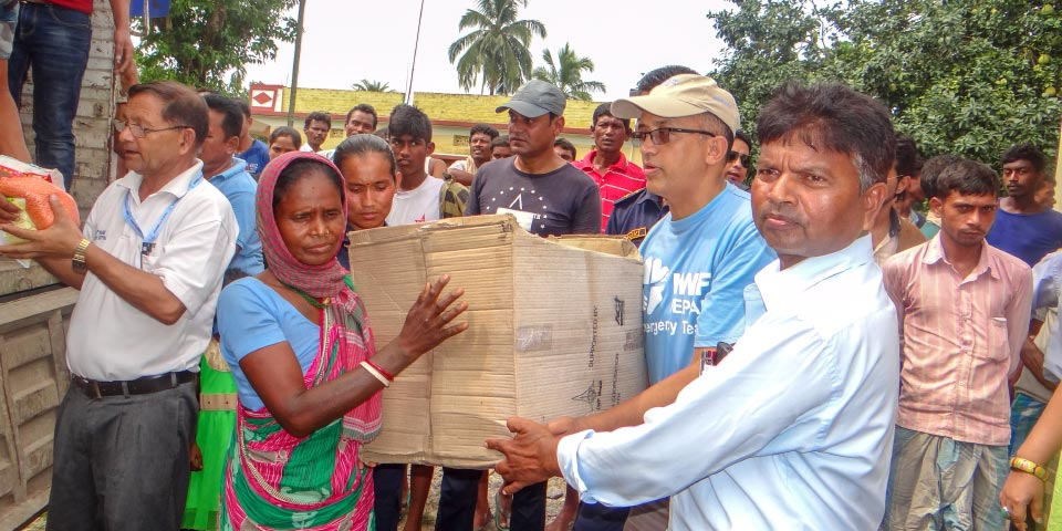 Aid for people affected by Nepal floods in 2018