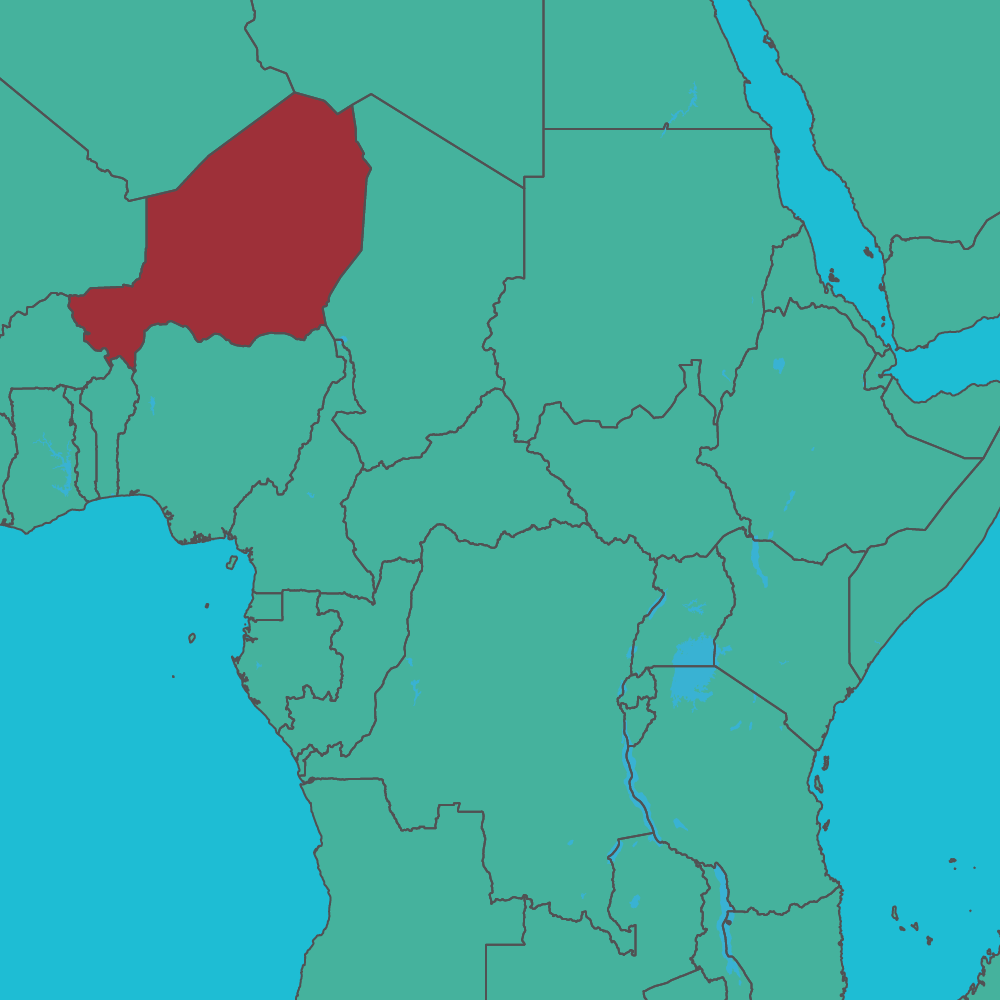 map of Niger in Africa