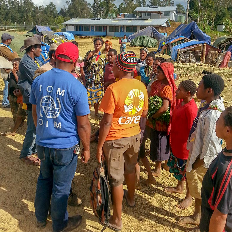 Humanitarian Coalition project after Papua New Guinea earthquake 2018