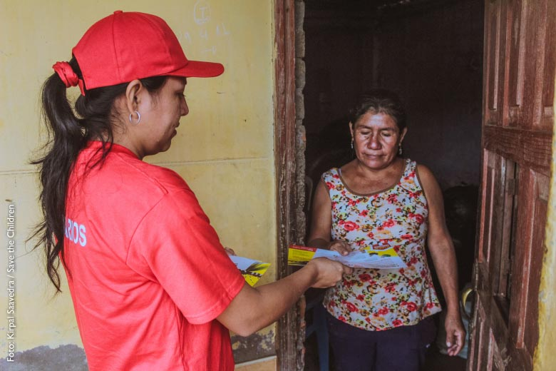 Humanitarian aid for people affected by floods in Peru