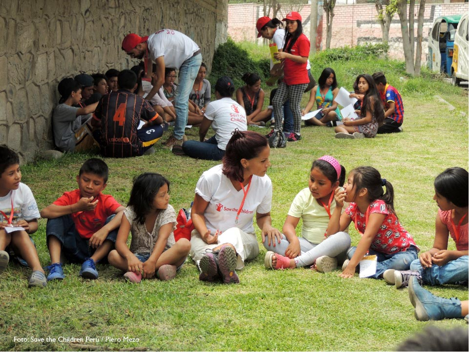 Support for children in Peru after floods