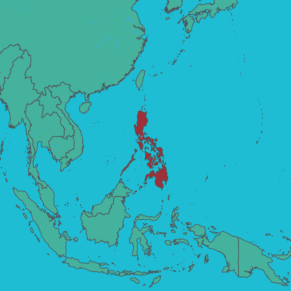 map of Philippines in Asia