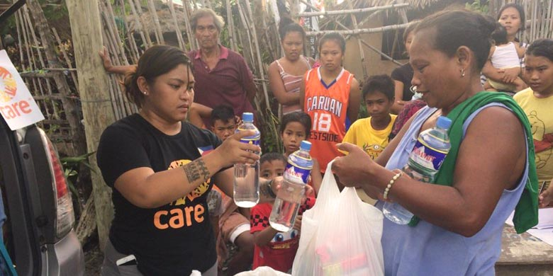 Humanitarian aid for typhoon-affected areas in Philippines