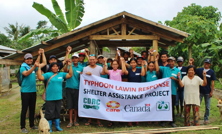 Humanitarian project to help people affected by Typhoon Haima