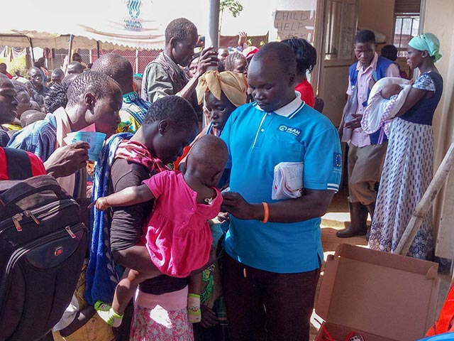 aid for people affected by South Sudan refugee crisis