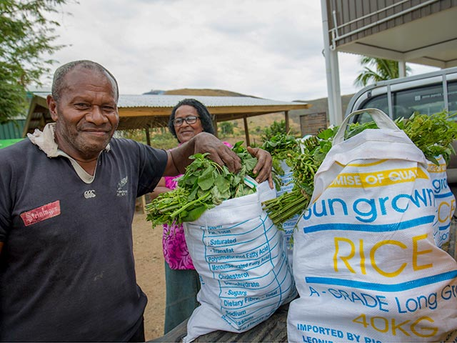 Food aid for people affected by cyclones that hit Fiji