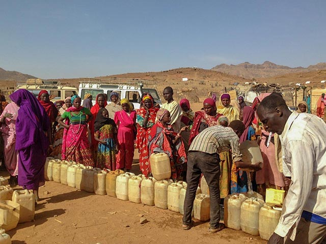 People displaced in Sudan
