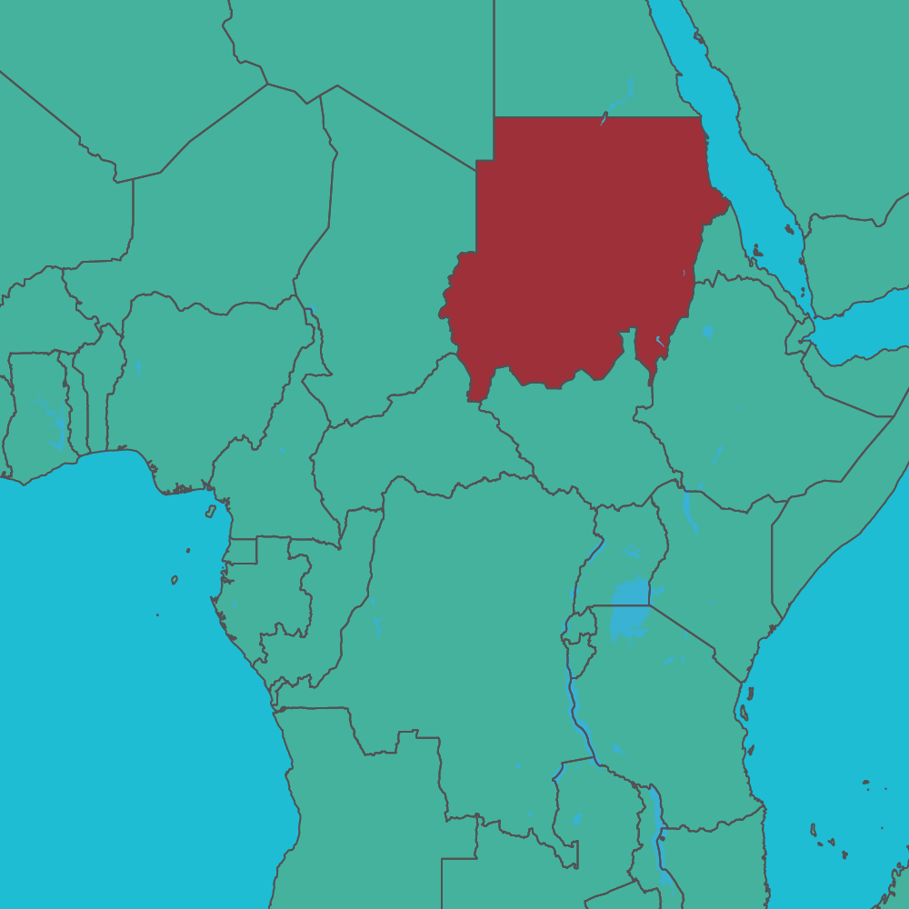 map of Sudan in Africa