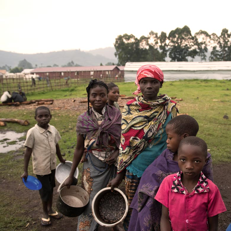 Congolese refugees in Uganda in 2018